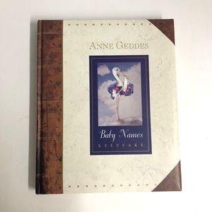 Anne Geddes baby name keepsake book
